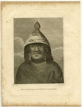 Woman of Nootka Sound, on the North West Coast of America. CANADA - BRITISH COLUMBIA - NOOTKA SOUND.