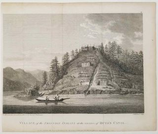 Village of the Friendly Indians at the entrance of Bute's Canal. CANADA - BRITISH COLUMBIA -...
