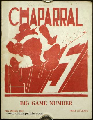 Chaparral. Big Game Number. November, 1921. STANFORD UNIVERSITY.
