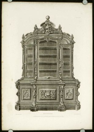 Illustrations of Furniture, Candelabra, Musical Instruments from the Great Exhibitions of London...