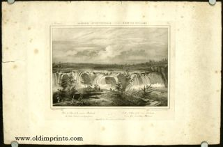 Chute de Cohoes de la riviere Mohawk. Falls of the Cohoes of the river Mohawk. Ad Cohoes Mohawk...