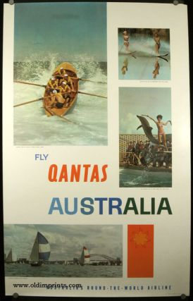 Fly Qantas Australia. Australia's Round - the - World Airline. QANTAS - AUSTRALIA