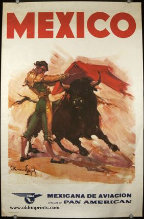 Mexico. CMA. Mexicana de Aviacion Affiliate of Pan American. PAN AMERICAN AIRLINES - BULLFIGHTING
