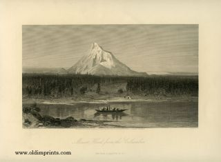 Mount Hood, from the Columbia. OREGON - CASCADES - MT HOOD