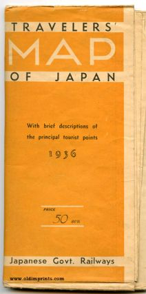 Travellers' Map of Japan With brief descriptions of the principal tourist points 1936.