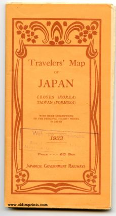 Travelers' Map of Japan Chosen (Korea) Taiwan (Formosa) With Brief Descriptions of the Principal Tourist Points in Japan 1933.