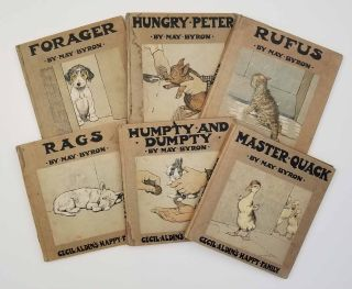 Cecil Aldin's Happy Family. SET OF SIX VOLUMES: I. Hungry Peter His Adventures. II. Rufus... III....