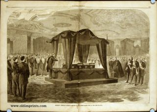 President Lincoln's Funeral Service at the White House, April 19, 1865. IN COMPLETE ISSUE OF...