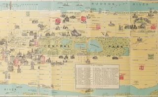 Pictorial Map of New York City.