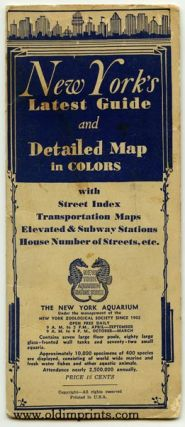 New York's Latest Guide and Detailed Map in Colors with Street Index Transportation Maps Elevated & Subway Stations House Numbers of Streets, etc. Map title: Supervue of New York City.