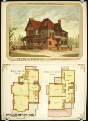 A House at Orange, N.J. AMERICAN VICTORIAN ARCHITECTURE / CHROMOLITHOGRAPH