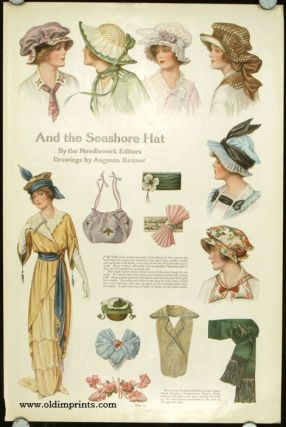 And the Seashore Hat. 1910s FASHION - HATS.