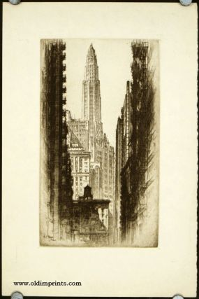 Untitled Cityscape [Mather Tower Chicago]. ALONZO C. WEBB
