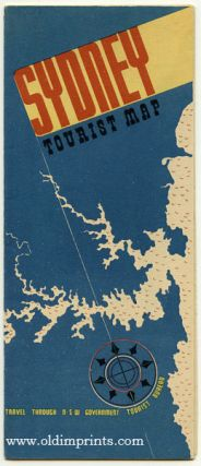 Sydney Tourist Map. Map title: Guide Map of The City of Sydney Including King';s Cross
