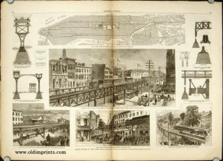 Harper's Weekly. COMPLETE ISSUE, including centrefold Rapid Transit in New York and Front cover...