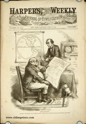 """English Geography"" in COMPLETE ISSUE of Harper's Weekly. THOMAS NAST"