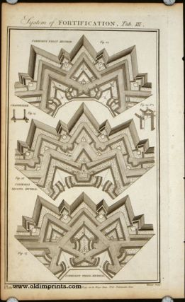 System of Fortification. SET OF 8 PLATES. FORTIFICATIONS - 18TH CENTURY.