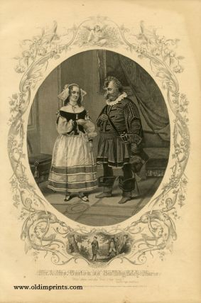 Mr. and Mrs. Burton as Sir Toby Belch and Maria. SHAKESPEAREAN ACTORS - BURTON