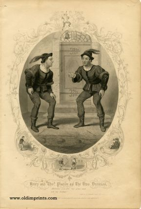 Henry and Thomas Placide as the Two Dromios. SHAKESPEAREAN ACTORS - PLACIDE