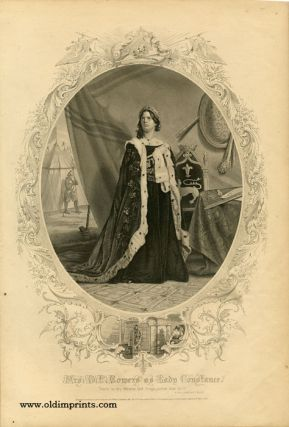 Mrs. D. P. Bowers as Lady Constance. SHAKESPEAREAN ACTORS - BOWERS