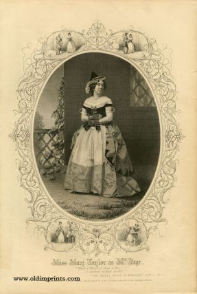 Miss Mary Taylor as Mrs. Page. SHAKESPEAREAN ACTORS - TAYLOR