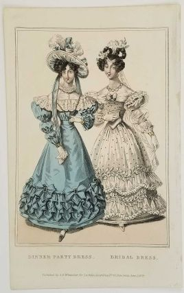 Dinner Party Dress. Bridal Dress. 1820s FASHION.