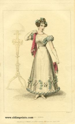 Ball Dress. 1820s FASHION