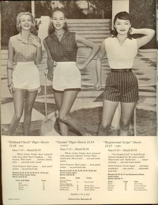 Jantzen International. 1957 Junior Swim Suits / Sunclothes / Tee Shirts. 1950s FASHION - SWIMWEAR