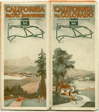 California via the Pacific Northwest. Burlington Route. The Scenic Way Cross the U.S.A....