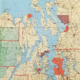 Kroll's Map of Puget Sound Country. Map title: Puget Sound Country.