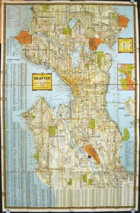 For the Pocket. Seattle Guide Map. WASHINGTON - SEATTLE