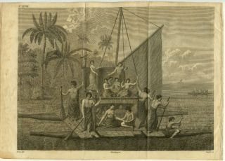 Entertainment Given to Admiral D'Entrecasteaux by Toobou King of the Friendly Islands. / Untitled...