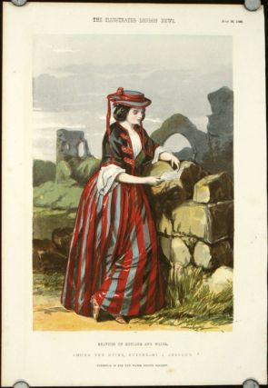 Beauties of England and Wales. THREE COLOR WOODENGRAVINGS. Among the Ruins, Sussex. / Haddon...