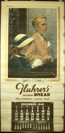 1948 Calendar. Hope of the World. Fluhrer's Holsum Bread the fresher, richer loaf. DOUGLASS...