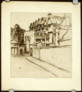 The Palace - Oxford (untitled print). ENGLAND - OXFORD
