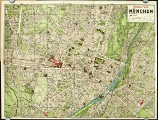 Pharus-Plan Munchen. GERMANY - MUNICH.