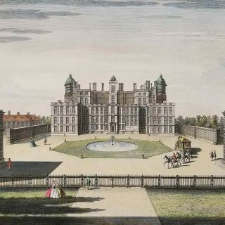 The North Prospect of Worksop Mannor, in the County of Nottingham, one of the Seats of the most Noble Edward Duke of Norfolk; Hereditary Earle Marshal of England; Earl of Arundel, Surry, Norfolk & Norwich; Baron Howard of Mowbray &c...