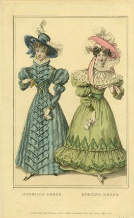 Carriage Dress. Evening Dress. 1820s FASHION.