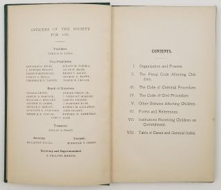 Manual of The New York Society for the Prevention of Cruelty to Children. With Appropriate Forms and References...Cover title: Gerry's Manual. 1902.
