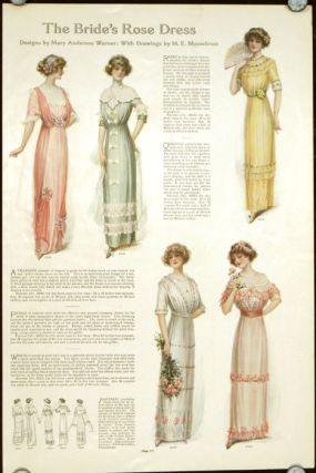 The Bride's Rose Dress. 1910s FASHION - BRIDAL.