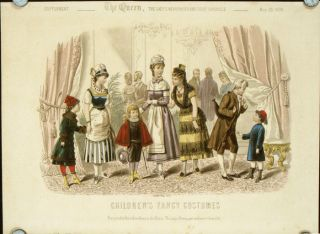 Children's Fancy Costumes. Supplement - The Queen, The Lady's Newspaper and Court Chronicle. ...