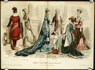 Fancy Costumes - Periods 1000 to 1750. 1870s FASHION - COSTUMES