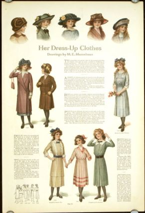 Her Dress-Up Clothes. / Waists and Suits for the College Girl. 1910s FASHION - GIRLS' FASHION