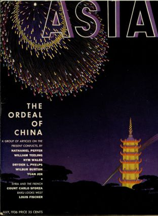 Asia. July 1936. The Ordeal of China A Group of Articles on the Present Conflicts. CHINA