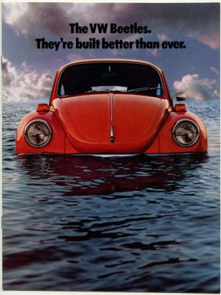 The VW Beetles. They're built better than ever. VOLKSWAGEN.
