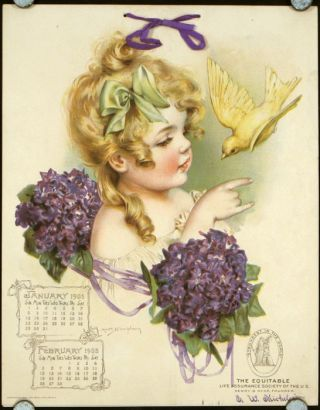 Calendar for 1905 with Maud Humphrey illustrations. MAUD HUMPHREY