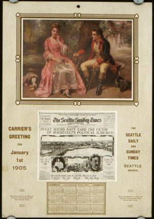 Courtship. Carrier's Greeting for January 1st 1905. COURTSHIP