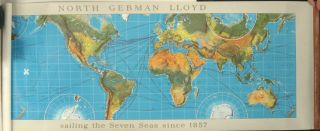 North German Lloyd sailing the Seven Seas since 1857.