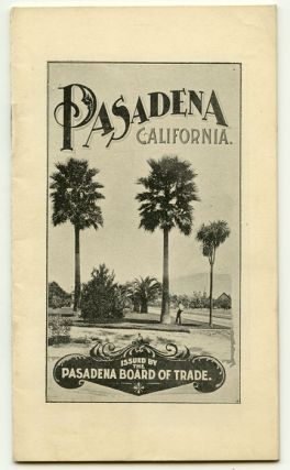 Pasadena Los Angeles County Southern California in 1898. CALIFORNIA - PASADENA