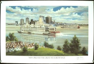New Orleans - The Great Steamboat Race. LOUISIANA - NEW ORLEANS